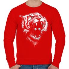 PRINTFASHION Befolyás ereje - Férfi pulóver - Piros