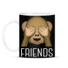 PRINTFASHION Best Friends - Monkey 2 - Bögre - Fekete