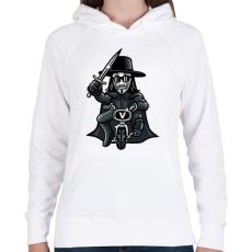 PRINTFASHION Biciklis Vendetta - Női kapucnis pulóver - Fehér