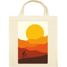 PRINTFASHION Biciklizés a hegyekben - Vászontáska - Natúr