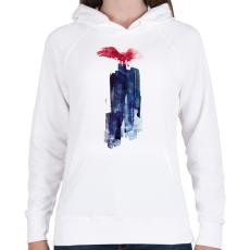 PRINTFASHION Big beast - Női kapucnis pulóver - Fehér
