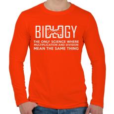 PRINTFASHION BIOLOGY - Férfi hosszú ujjú póló - Narancs