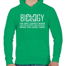 PRINTFASHION BIOLOGY - Férfi kapucnis pulóver - Zöld