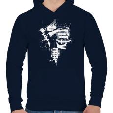 PRINTFASHION birdi59-02-01 - Férfi kapucnis pulóver - Sötétkék