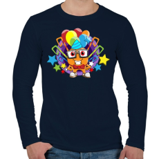 PRINTFASHION Birthday - Férfi hosszú ujjú póló - Sötétkék