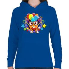 PRINTFASHION Birthday - Női kapucnis pulóver - Királykék