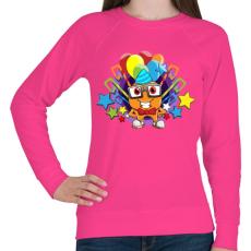 PRINTFASHION Birthday - Női pulóver - Fukszia