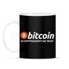 PRINTFASHION Bitcoin - Bögre - Fekete