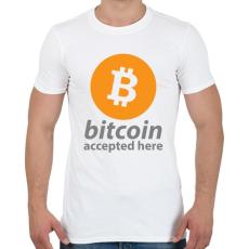 PRINTFASHION Bitcoin elfogadó - Férfi póló - Fehér