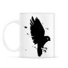 PRINTFASHION Black Bird - Bögre - Fehér