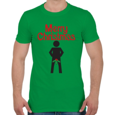 PRINTFASHION Boldog Karácsonyt! - Férfi póló - Zöld