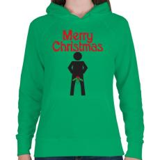 PRINTFASHION Boldog Karácsonyt! - Női kapucnis pulóver - Zöld