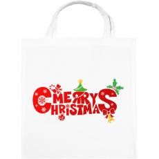 PRINTFASHION Boldog karácsonyt - Vászontáska - Fehér