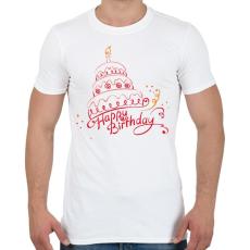 PRINTFASHION Boldog Születésnapot! - Férfi póló - Fehér