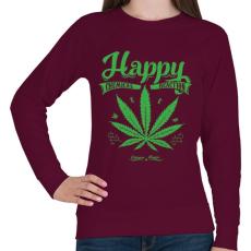 PRINTFASHION Boldogság gyomja - Női pulóver - Bordó
