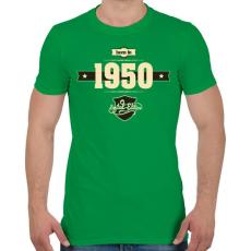 PRINTFASHION born-in-1950-cream-choco - Férfi póló - Zöld