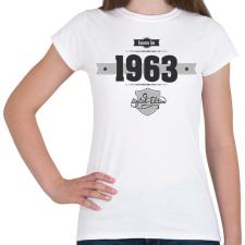 PRINTFASHION born-in-1963-(dark&lightgrey) - Női póló - Fehér női póló