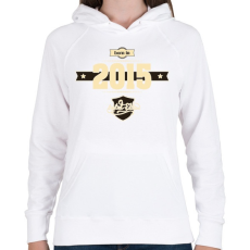PRINTFASHION born-in-2015-cream-choco - Női kapucnis pulóver - Fehér