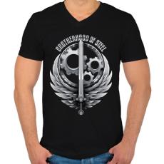 PRINTFASHION Brotherhood Reborn - Férfi V-nyakú póló - Fekete