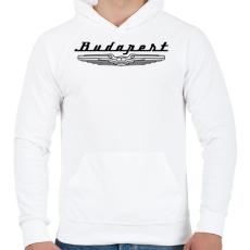 PRINTFASHION budapest-ikarus-black - Férfi kapucnis pulóver - Fehér