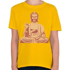 PRINTFASHION Buddha - Gyerek póló - Sárga