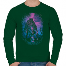 PRINTFASHION Bújócska - Férfi pulóver - Sötétzöld