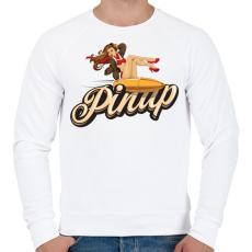PRINTFASHION Bullet ride - Férfi pulóver - Fehér