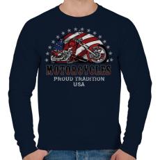 PRINTFASHION Büszke hagyomány - Férfi pulóver - Sötétkék