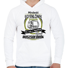 PRINTFASHION Buszsofőr - Férfi kapucnis pulóver - Fehér