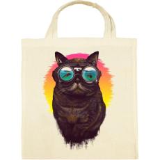 PRINTFASHION Búvár macska - Vászontáska - Natúr
