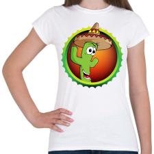 PRINTFASHION Cactus - Női póló - Fehér női póló