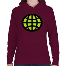 PRINTFASHION captain planet - Női kapucnis pulóver - Bordó
