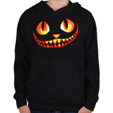 PRINTFASHION Cat - Gyerek kapucnis pulóver - Fekete