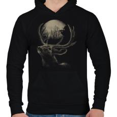 PRINTFASHION Célkereszt - Férfi kapucnis pulóver - Fekete