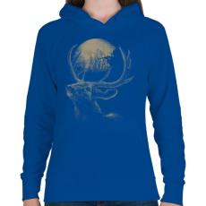 PRINTFASHION Célkereszt - Női kapucnis pulóver - Királykék