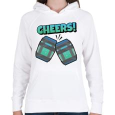 PRINTFASHION Cheers! Fortnite Chug Jug - Női kapucnis pulóver - Fehér