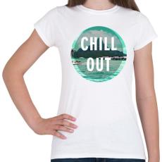 PRINTFASHION Chill Out - Női póló - Fehér