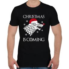 PRINTFASHION Christmas is coming! - Férfi póló - Fekete