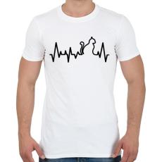 PRINTFASHION Cica szívverés - Férfi póló - Fehér