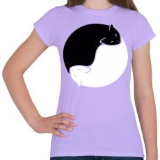 PRINTFASHION Cica yin yang - Női póló - Viola