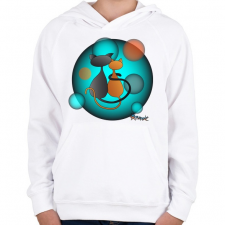 PRINTFASHION Ciclove - Gyerek kapucnis pulóver - Fehér gyerek pulóver, kardigán