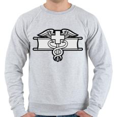 PRINTFASHION Combat Medic - Férfi pulóver - Sport szürke