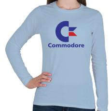PRINTFASHION Commodore - Női hosszú ujjú póló - Világoskék