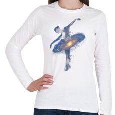 PRINTFASHION Cosmic dance - Női hosszú ujjú póló - Fehér
