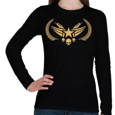 PRINTFASHION Counter Strike: Global Offensive Nova Rank - Női hosszú ujjú póló - Fekete