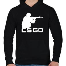 PRINTFASHION CS:GO - Férfi kapucnis pulóver - Fekete