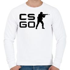 PRINTFASHION CS:GO - Férfi pulóver - Fehér