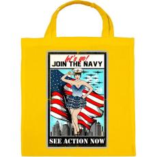 PRINTFASHION Csatlakozz a tengerészethez - Vászontáska - Sárga