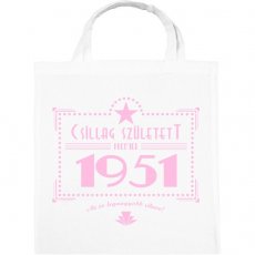 PRINTFASHION csillag-1951-pink - Vászontáska - Fehér