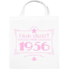 PRINTFASHION csillag-1956-pink - Vászontáska - Fehér